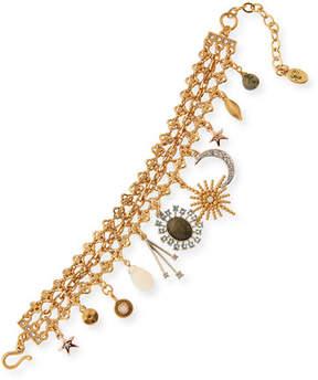 Sequin Celestial Crystal Charm Bracelet