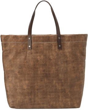 Salvatore Ferragamo Gancini-Embossed Leather Tote Bag, Brown