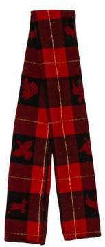 DSQUARED2 Tartan Wool Blanket Scarf