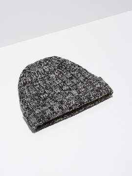 Frank and Oak 2-Tone Wool-Blend Toque in Black