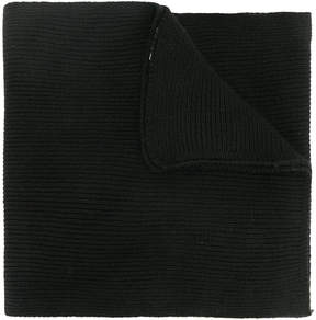 Moschino ribbed teddy plaque scarf