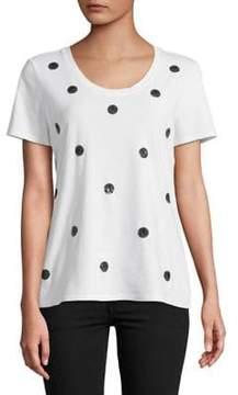Isaac Mizrahi IMNYC Sequin-Dot T-Shirt