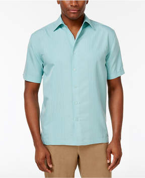 Cubavera Ombre Embroidered Short-Sleeve Shirt