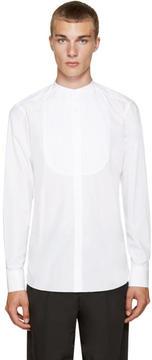 Kolor White Band Collar Shirt
