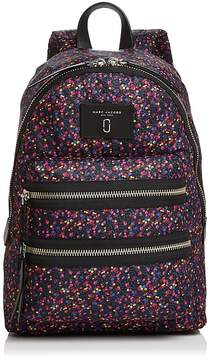 Marc Jacobs Biker Mixed Berries Print Nylon Backpack - BLUE MULTI/SILVER - STYLE