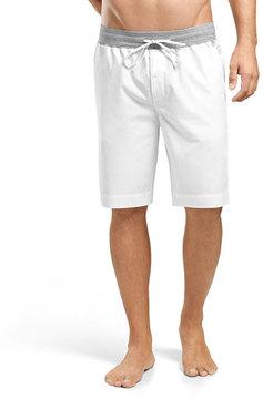 Hanro Harvey Woven Shorts, White/Gray