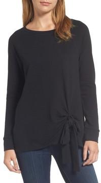 Caslon Women's Tie Front Sweatshirt Tunic