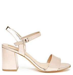 Forever 21 Metallic Strappy Heels