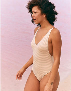 aerie Ruffle Back One Piece Swimsuit