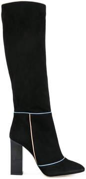 Gianna Meliani contrast trim heeled boots