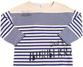 Burberry Striped Jersey Long Sleeve T-Shirt