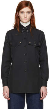 Calvin Klein Black Western Pockets Shirt