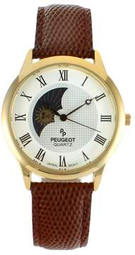 Peugeot Men's Leather Watch - 2047GBR
