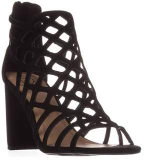 Material Girl Mg35 Cadence Caged Strappy Dress Sandals, Black.