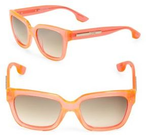 McQ 3D Logo 54mm Square Sunglasses