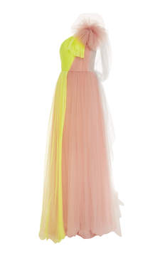 DELPOZO Long Tulle Gown