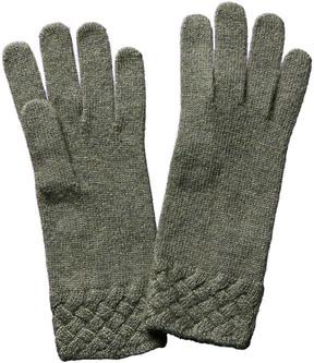 Portolano Women's Green Wool-Blend Gloves
