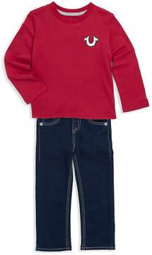 True Religion Little Boy's Two-Piece Cotton Top and Jeans Set