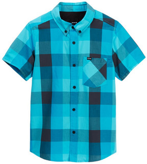 Hurley HRLB Surfers Only Short Sleeve Woven Button Down Top (Big Boys)