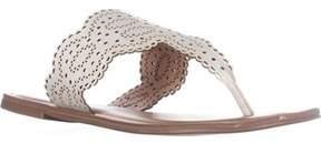 XOXO Roxana Flat Sandals, White.