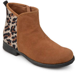 Journee Collection Tan Leopard Print Marlow Boot