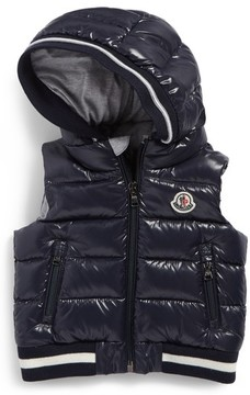 Moncler Toddler Boy's Larry Hooded Down Puffer Vest