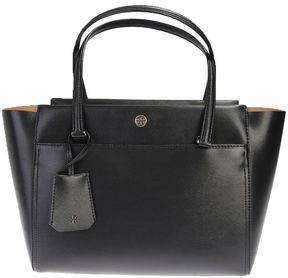 Tory Burch Leather Parker Small Tote - BLACK - STYLE