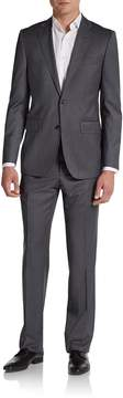 Saks Fifth Avenue BLACK Men's Slim-Fit Pinstriped Wool & Silk Suit