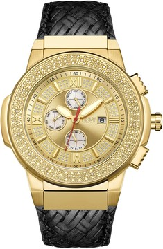 JBW Saxon Crystal Gold Dial Men's Watch