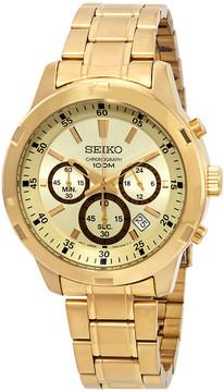 Seiko Neo Sports Chronograph Gold Dial Men's Watch
