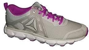 Reebok Women's Hexaffect Run 5.0 Mtm Track Shoe, Skull Grey/Flat Grey/Vicious Violet/Pewter/White/Alloy, 8 M US