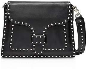 Rebecca Minkoff Midnighter Slim Leather Shoulder Bag - BLACK/SILVER - STYLE