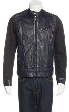 Just Cavalli Leather Moto Jacket