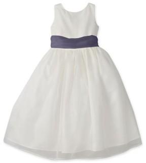 Us Angels Girl's Sleeveless Organza Dress