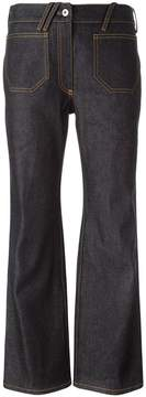 Courreges flared cropped jeans