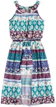 My Michelle Girls 7-16 U-Neck Walk-Through Maxi Dress