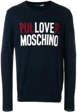 Love Moschino slogan sweatshirt