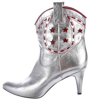 Marc Jacobs Georgia Metallic Cowboy Boots