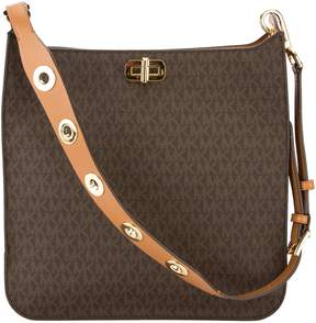 Michael Kors Brown Monogram Canvas Sullivan Large Logo Messenger (New with Tags) - BROWN - STYLE
