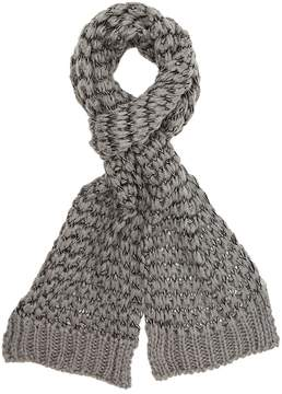Charlotte Russe Contrast Open-Knit Wrap Scarf