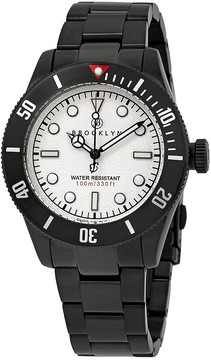 Co Brooklyn Watch Black Eyed Pea White Dial Men's Watch