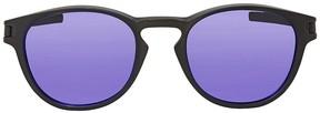 Oakley Latch Violet Iridium Round Sunglasses