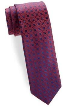 Charvet Leaf Medallion Silk Narrow Tie