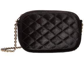 Jessica McClintock Audrey Quilted Velvet Shoulder Bag Shoulder Handbags