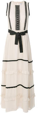 Blugirl front bow maxi dress