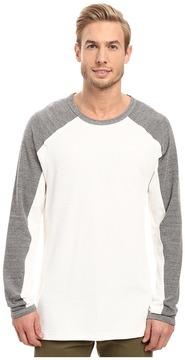 Agave Denim Lookout Long Sleeve Slub Color Block Men's Long Sleeve Pullover