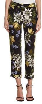 Erdem Ginnie Silk Crop Pants