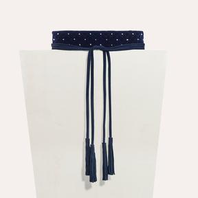 Maje Wide tie belt with studs