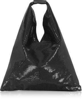 Maison Margiela Black Micro Sequins Japanese Tote Bag