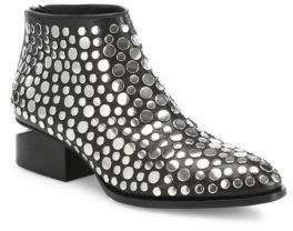 Alexander Wang Kori Tilt-Heel Studded Leather Oxford Booties